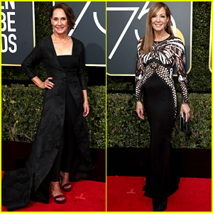 Laurie Metcalf & Allison Janney Attend the Golden Globes 2018