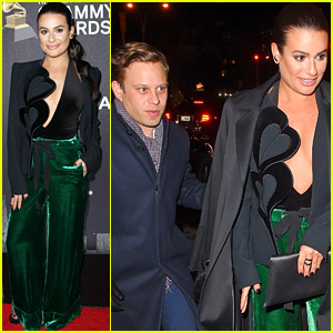 Lea Michele Enjoys Date Night with Zandy Reich at Pre-Grammys Party