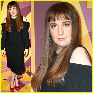 Lena Dunham Wears Black Dress to Golden Globes 2018 After Party