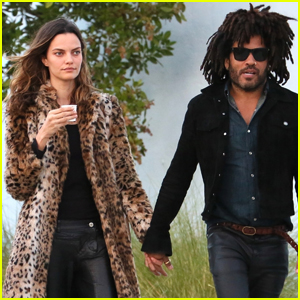 Lenny Kravitz Steps Out With New Girlfriend Barbara Fialho!