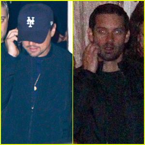 Leonardo DiCaprio & Tobey Maguire Buddy Up at Pre-Globes Party