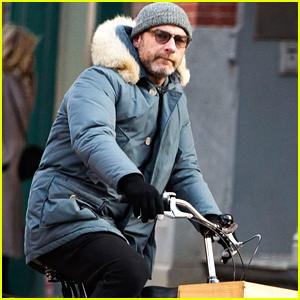 Liev Schreiber Bundles Up on Afternoon Bike Ride