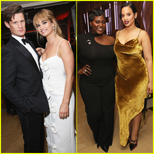 Lily James Joins Boyfriend Matt Smith & More at Netflix SAG Awards After Party 2018!