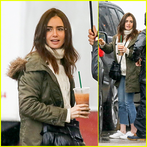 Lily Collins Arrives on the Set of 'Extremely Wicked, Shockingly Evil and Vile'!