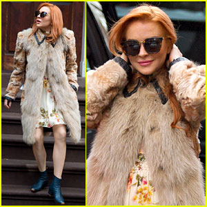 Lindsay Lohan Steps Out in Style for Grandma's 94th Birthday