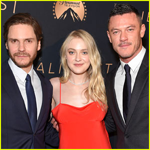 Luke Evans, Dakota Fanning, & Daniel Bruhl Premiere 'The Alienist' in LA