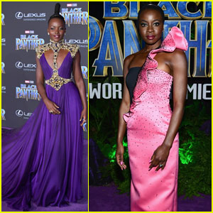 Lupita Nyong'o & Danai Gurira Stun at 'Black Panther' World Premiere!