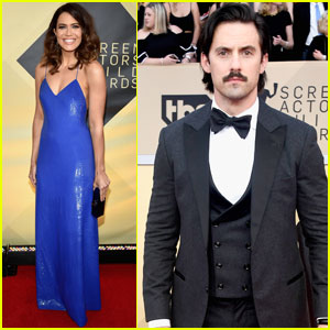 Mandy Moore & Milo Ventimiglia Hit the Red Carpet at SAG Awards 2018!