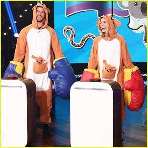Margot Robbie & Chris Hemsworth Face Off in 'Ellen's Battle of the Best Aussie!