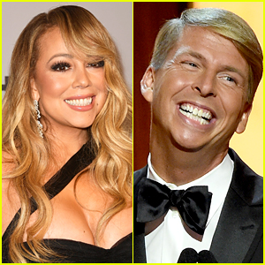 Mariah Carey Recreates 'Touch My Body' Video with Jack McBrayer at Globes Party