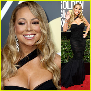 Mariah Carey Is a Glam Goddess on the Red Carpet at Golden Globes 2018!