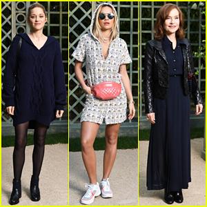 Marion Cotillard, Rita Ora & Isabelle Huppert Chanel Paris Fashion Show