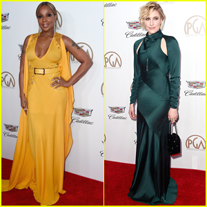 Mary J. Blige Brightens Up in Yellow at PGA Awards 2018!