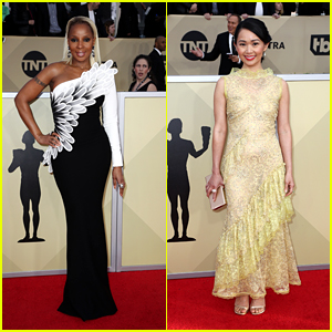 Nominees Mary J. Blige & Hong Chau Hit the Red Carpet at SAG Awards 2018!
