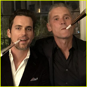 Matt Bomer & Husband Simon Halls Snap a New Year's Eve Pic!