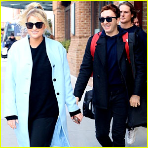 Meghan Trainor & Fiance Daryl Sabara Are All Smiles in NYC!