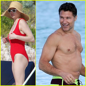 Michelle Williams & Shirtless Boyfriend Andrew Youmans Hit the Beach in the Bahamas
