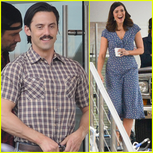 Milo Ventimiglia Looks Buff on Set of 'This Is Us' with Mandy Moore