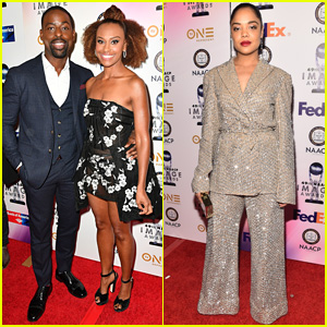 Sterling K. Brown, Tessa Thompson, & More Step Out for NAACP Image Awards 2018