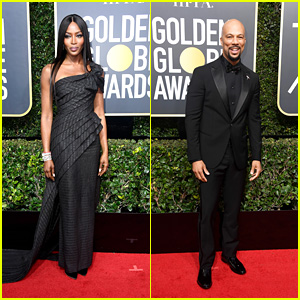 Naomi Campbell & Common Hit the Red Carpet at Golden Globes 2018!