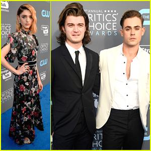 Stranger Things' Dacre Montgomery & Joe Keery Hit Critics' Choice Awards 2018