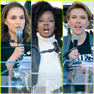 Natalie Portman, Viola Davis, & Scarlett Johansson Speak Out at Women's March LA 2018!