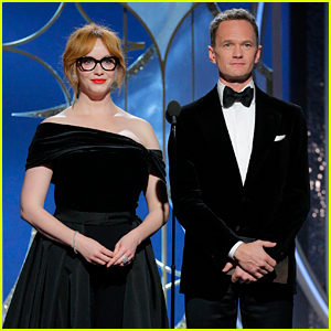 Neil Patrick Harris & Christina Hendricks Present Together at Golden Globes 2018