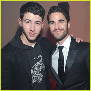 Nick Jonas & Darren Criss Reunite For John Varvatos Launch Party