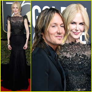 Nicole Kidman Gets Husband Keith Urban's Support at Golden Globes 2018