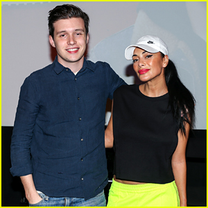 Nicole Scherzinger Meets Nick Robinson at JustJared.com's 'Love, Simon' Screening