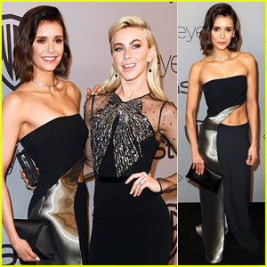 Nina Dobrev & Julianne Hough Share an Elevator Kiss at InStyle's Golden Globes 2018 After-Party