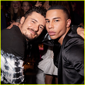 Orlando Bloom & Olivier Rousteing Meet Up at Balmain's After Party in Paris