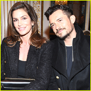 Orlando Bloom Joins Cindy Crawford Front Row at Balmain's Paris Fashion Show