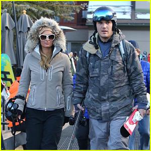 Newly Engaged Couple Paris Hilton & Chris Zylka Hit the Slopes on New Year's Eve!