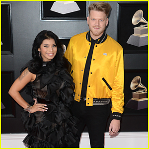 Pentatonix's Scott Hoying & Kirstin Maldonado Hit Grammys 2018