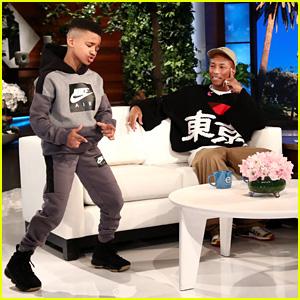 Pharrell Williams Meets Ellen DeGeneres' Favorite Kid Trainer & Performs With N.E.R.D on 'Ellen' - Watch Now!