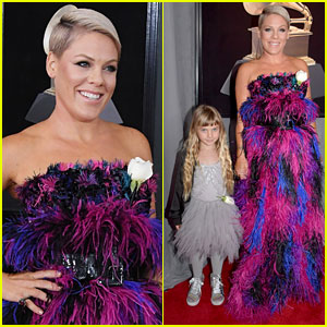 Pink & Daughter Willow Bring the Feathers, Sequins, & Glitter to Grammys 2018!