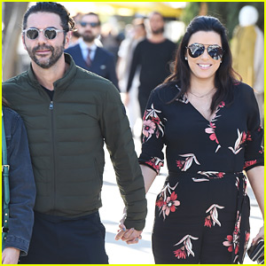 Pregnant Eva Longoria Enjoys Mid-Week Lunch with Husband Jose Baston