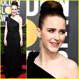 Marvelous Mrs. Maisel's Rachel Brosnahan Arrives for Golden Globes 2018!
