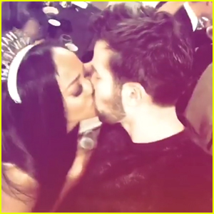 The Bachelorette's Rachel Lindsay Kisses Fiance Bryan Abasolo at Midnight on NYE!