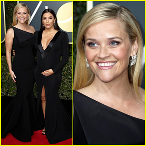 Reese Witherspoon & Eva Longoria Pose Together at Golden Globes 2018