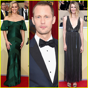 Reese Witherspoon Joins Alexander Skarsgard & Laura Dern at SAG Awards 2018