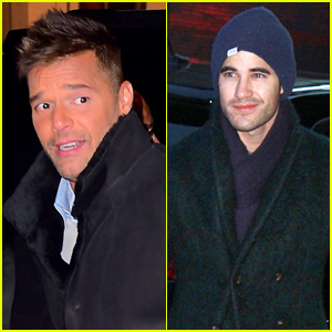 Ricky Martin & Darren Criss Are in the Big Apple for 'Versace' Press!