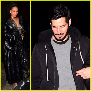 Rihanna & Boyfriend Hassan Jameel Party After Grammys 2018