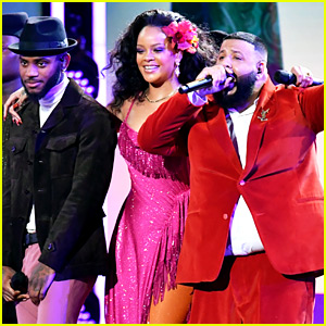 Rihanna Performs 'Wild Thoughts' at Grammys 2018 with DJ Khaled & Bryson Tiller (Video)