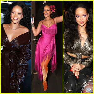Rihanna's Three Fashionable Looks at Grammys 2018