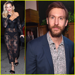 Rita Ora Reunites with Ex Calvin Harris at Benny Blanco & Diplo's Grammys 2018 After Party!