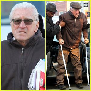 Robert De Niro Uses Crutches on 'The Irishman' Set