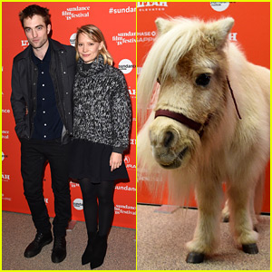 Robert Pattinson & Mia Wasikowska Join a Mini Horse at Their Sundance Premiere!