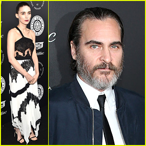 Rooney Mara & Joaquin Phoenix Stop By Art of Elysium Gala